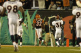 (Cincinnati, Ohio, October 25, 2004) Rudi Johnson runs into the end zone for a touchdown in the...