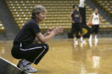 (BOULDER, Colo., February 24, 2005) University of Colorado-Boulder Womens' Basketball Coach Ceal...