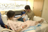 (AURORA, Colo., March 2, 2005)Sophia Breusegem (cq Breusegem from subject) and Nicholas Barry hold...