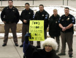 (DENVER Colo., February 16, 2005) Doni-Marie Rutledge (cq) stands in front of Denver Sheriff...