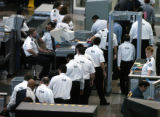 (DENVER Colo., February 15, 2005)  Its shift change time for Transportation Security...