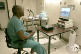 NYT14 - (NYT14) NEW YORK -- Feb. 23, 2005 -- CIR-DOCS-VIDEO-GAMES-2 -- Dr. James Clarence Rosser...