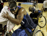 (DENVER, COLORADO:  FEBRUARY 17, 2005) NWBA's East All-Star player, Charles Allen, (cq Charles...