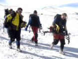 Guanella Pass, Colo.-February 21-2005)- Steven Brodsky (Center) walks from the U.S. Army...