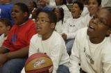 (DENVER, Colo., February 17, 2005) (Front row left to right) Red Shirt: Kyle Motley,11, center...