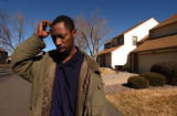 Aurora, Colo.2/17/05--A neighbor of suspected rapist Brent J Brents, Cedric Williams, 29 can't...