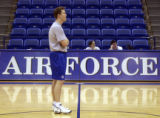 (COLORADO SPRINGS, Colo., February 24, 2005)  First year Air Force Academy basketball coach Chris...