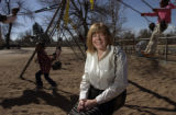 (DENVER, Colo., March 4, 2005) Ms. Shannon Hagerman (cq Shannon Hagerman from subject on swing),...
