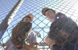 [(Tucson, AZ, Shot on: 2/25/05)] Friends Leo Khawm, 10,(CQ-Leo Khawam) (left) and Calvin Drake,...