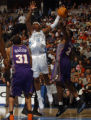 Denver, Colo., photo taken March 13, 2005- Denver Nugget forward, Carmelo Anthony  (cq left white...