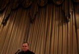 (2/28/05, DENVER, CO)  Archbishop Charles Chaput talks to the City Club of Denver about...