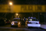 03/01/2005 Chicago-Chicago Police park outside of the North Side home of U.S. District Judge Joan...