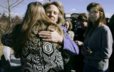 (LAKEWOOD, Colo., March 16, 2005) Colorado Lt. Gov. Jane Norton (face towards camera) hugs Denise...