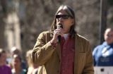 Boulder, Colo.-(March 3-2005)- University of Colorado professor Ward Churchill spoke to a crowd of...