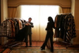 02/18/2005 Denver, Colorado-Ervin Rosenfeld, of ERNY Fine Furs and Leathers in New York City,...