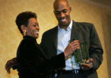 02/18/2005 Denver, Colorado-Detroit Pistons MVP and Washington High School Alum Chauncey Billups...