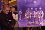 (AURORA, Colo., February 18, 2005) Jonathon and his son James,1, spoke together during the...