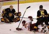 (DENVER, COLO.,  MARCH 4, 2005)   University of Denver Pioneers #5, Andrew Thomas(cq Andrew...