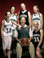 (DENVER, Co. - SHOT 3/18/2005) 2005 All-Colorado girls' basketball team - Sports to ID individual...