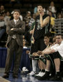 (DENVER shot on 3/10/05)   Colorado State head basketball coach Dale Layer (left) can only watch...