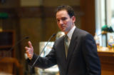 (DENVER, CO. MARCH 10, 2005) Colorado House Speaker Andrew Romanoff, made his last bid to House...