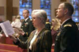 (COLORADO SPRINGS, Colorado... April 11, 2004) Chaplain (Lt.Col) McConnaughhay (cq)  and his wife...