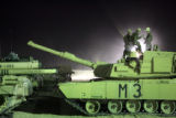 03/25/2005 Denver-A tank crew from Thunder Squadron, part of the 3rd Armored Cavalry Regiment...