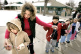 (DENVER, Co. - SHOT 3/14/2005) Graland Country Day School second grade support teacher Emily Smith...