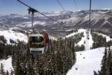 (2/23/05, Aspen, CO)   (PHOTO BY JUDY DeHaas, ROCKY MOUNTAIN NEWS) A gondola on the Silver Queen...