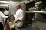 (2/23/05, Aspen, CO) Chef Paul Wade at the Little Nell in Aspen preps for dinner in his kitchen...