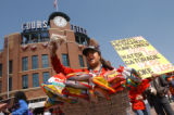 (Denver, Colo., April 12, 2004) Vendor Martha Lara, of Northglenn, sells pistachios, peanuts and...