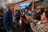 Denver, Colo. 4/12/04  -  Attorney General Ken Salazar opens the HQ for his Senate campaign.  He...