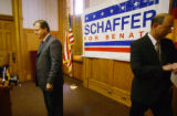 Denver, Colo. 4/12/04  - At the State Capitol,  republican candidate for US Senate Dan O'Bryant...