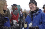 Vail, Colorado  April 9, 2004.    The 14th Annual Taste of Vail. The Mountaintop picnic.  Heavy...
