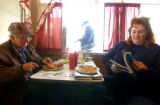 [Watkins, CO - Shot on: 10/13/04] Gene and Rhonda Sass eat lunch at the Interstate Cafe where...