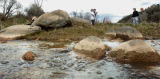 Post Independent Photo/Jim Noelker Natural gas bubbles rise from the bed of Divide Creek as it...