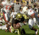 Boulder, Colo., photo taken October 9, 2004- University of Colorado wide reciever, Blake Mackey,...