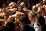 (10/25/04, Denver, CO)  President George Bush spoke to an exuberant crowd in Greeley, CO, at the...