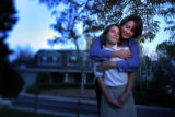 (10/19/2004) Centennial, Colorado-Debbie Brown, Centennial, with her daughter Amy.  Brown, a...