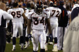 (Cincinnati, Colo, October 25, 2004) Denver Broncos vs.Cincinnati Bengals. Running back Reuben...