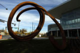 "DENVER Colo., October 20, 2004) A new sculpture called "" Indefinite Line"" now sits in..."