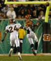 (Cincinnati, Ohio, October 25, 2004) Champ Bailey gets beat by C. Johnson in the 1st Game action...