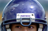 (FOUNTAIN, Co., SHOT 10/2/2004) Lake County Panthers' OL/DL Teddy Padilla's (#58, sophomore)...
