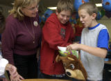 Littleton, Co.,  October 26, 2004  -   Students of Mt. Carbon Elementary school in Littleton...