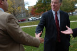 (10/14/04, Denver, CO)  Vermont's Gov. Howard Dean spoke to a crowd of a couple hundred people in...