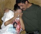 Denver, Co.,  October 29, 2004.  Gina Mendoza, daughter of homicide victim Sally Mendoza, is...
