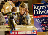 (DENVER Colo., October 31, 2004) Katie Henderson works the phones at 990 Kalamath October 31,...