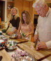 (Greenwood Village, CO., OCTOBER 26 , 2004)  Kathy Smith, center, teaches cooking classes from her...