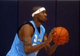 Denver, Colo., photo taken October 19. 2004-Newly signed Nugget guard DeMarr Johnson at Tuesday...
