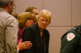 Grand Junction, CO., April 16, 2004. After her son Michael Blagg was escorted out of the courtroom...
